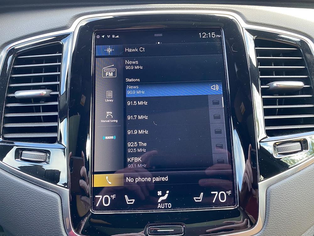 2021 Volvo XC90 Recharge T8 Inscription infotainment screen