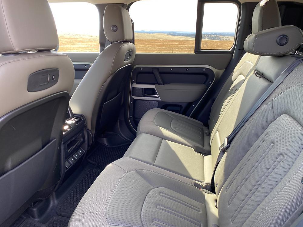 2020 Land Rover Defender 110 SE rear seat