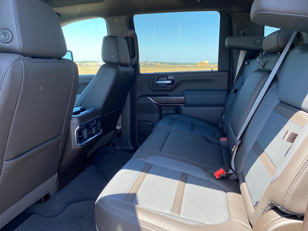 2021 GMC Sierra 2500 Denali Crew Cab 4WD rear seat