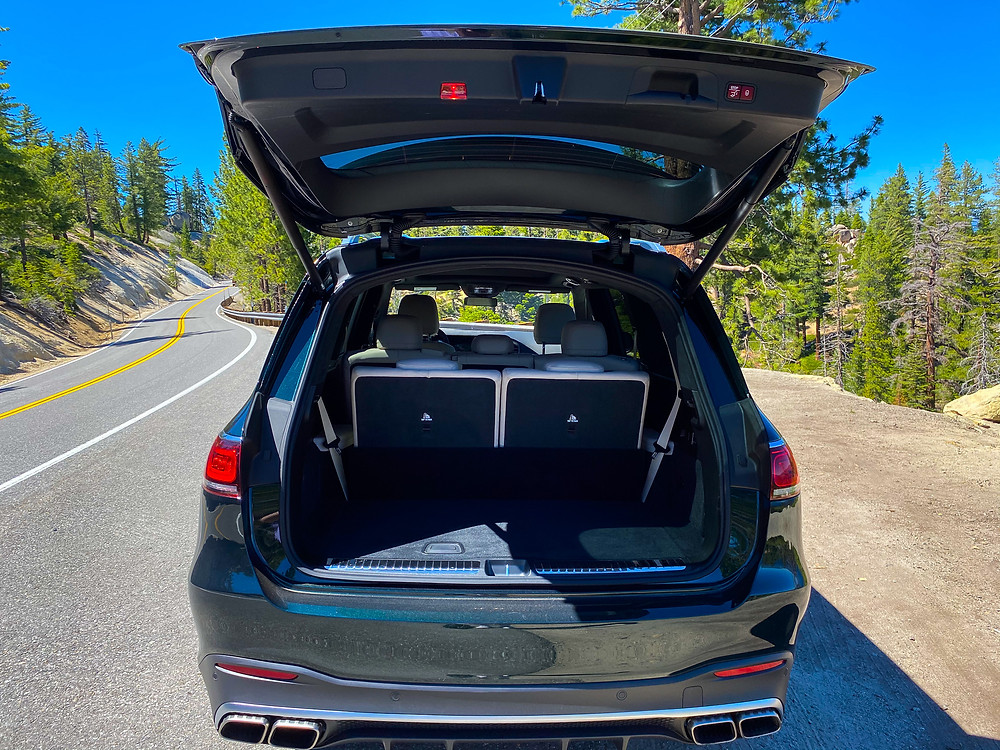 2021 Mercedes-AMG GLS 63 tailgate open