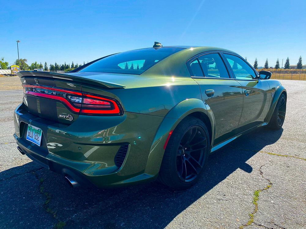 2020 Dodge Charger SRT Hellcat Widebody rear 3/4 view
