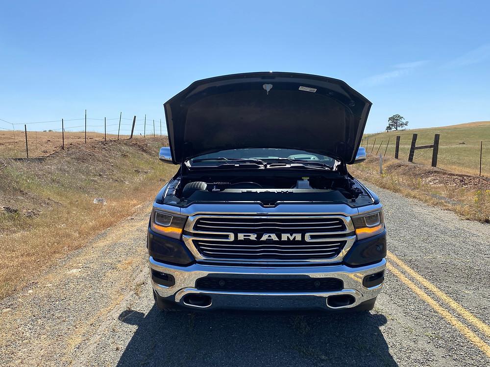 2021 RAM 1500 Laramie Crew Cab 4X4 hood up