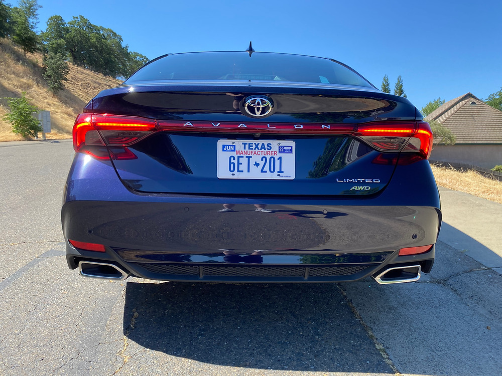 2021 Toyota Avalon Limited AWD rear view