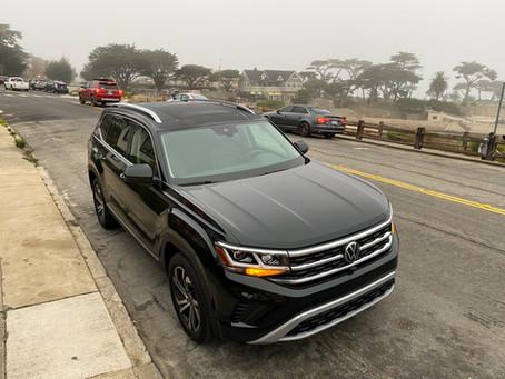 Road. Atlas.  The 2021 Volkswagen Atlas V6 SEL Premium