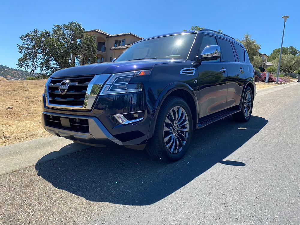 2021 Nissan Armada Platinum 4WD front 3/4 view