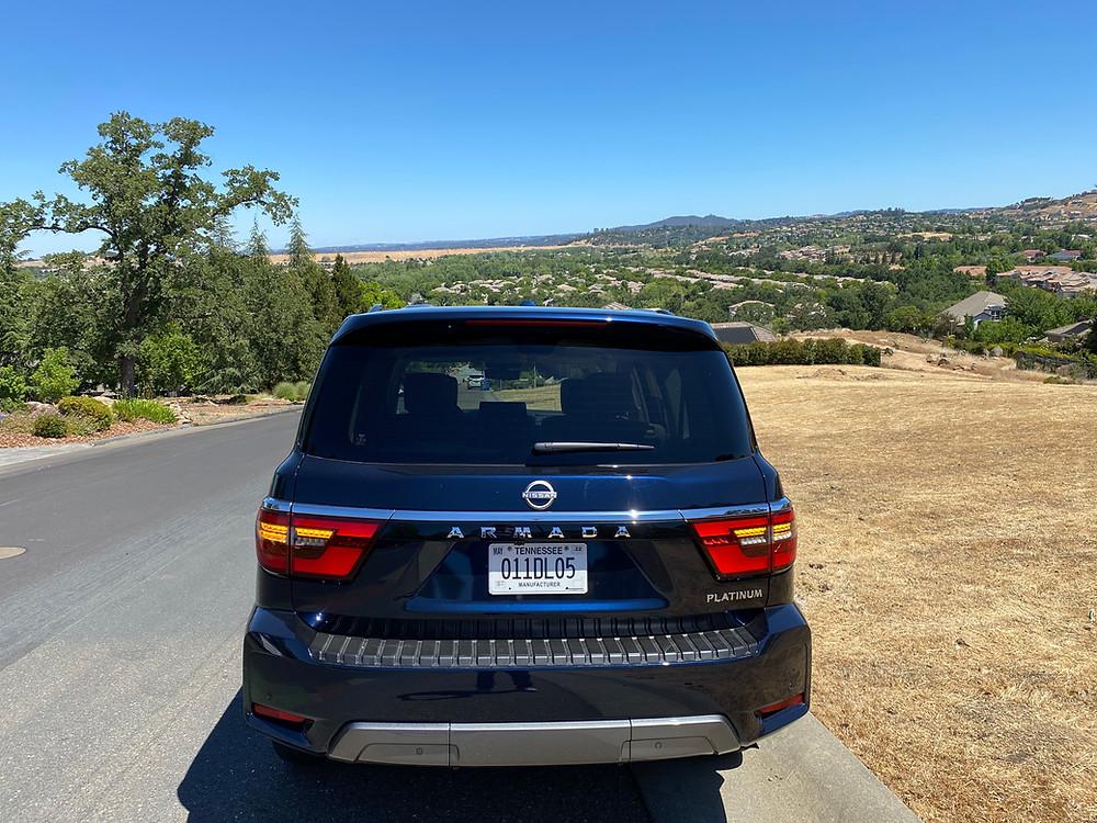 2021 Nissan Armada Platinum 4WD rear view