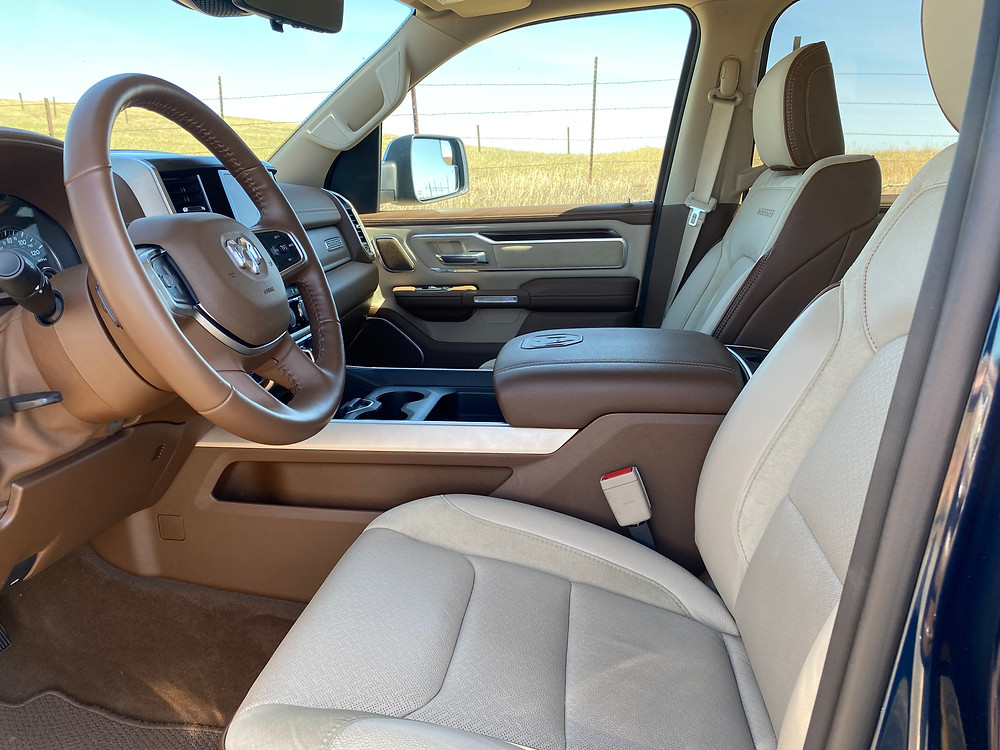 2020 RAM 1500 Laramie Crew Cab 4X4 front seats