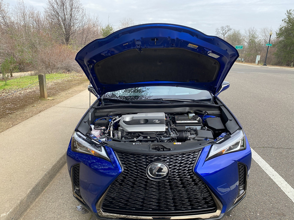 2021 Lexus UX 200 F SPORT hood up