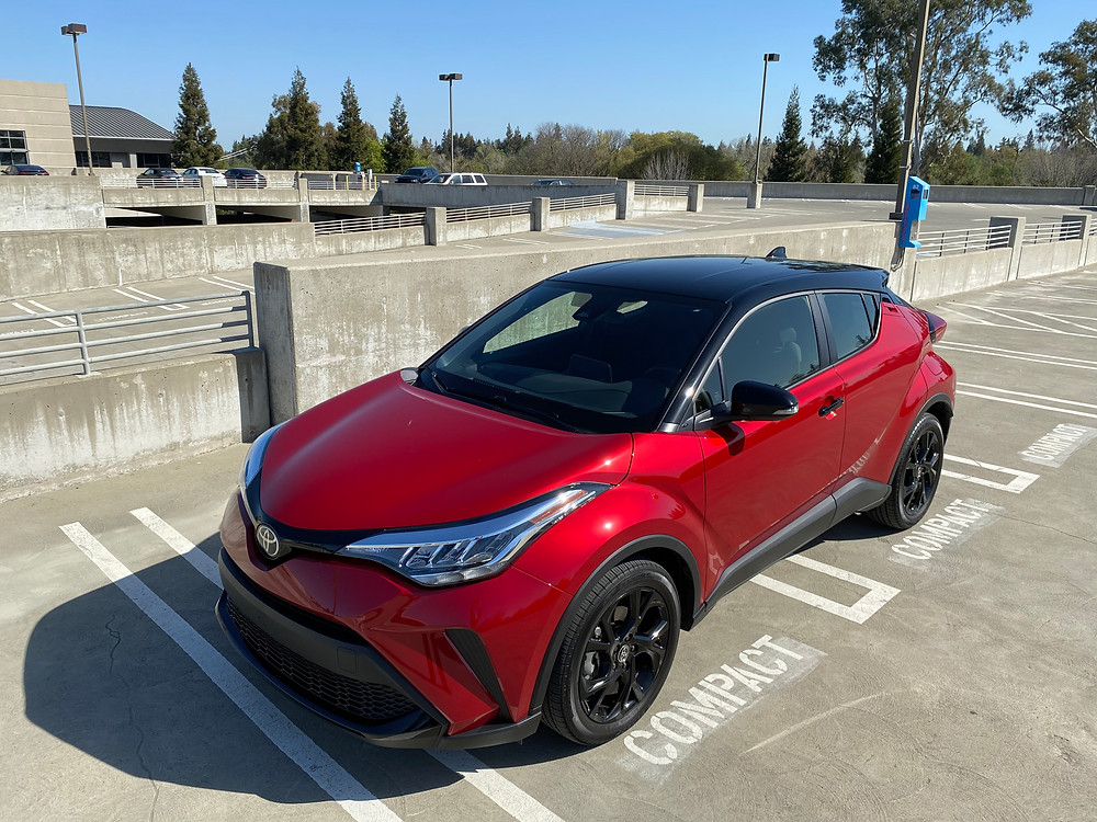 2021 Toyota C-HR Nightshade Edition front 3/4 view