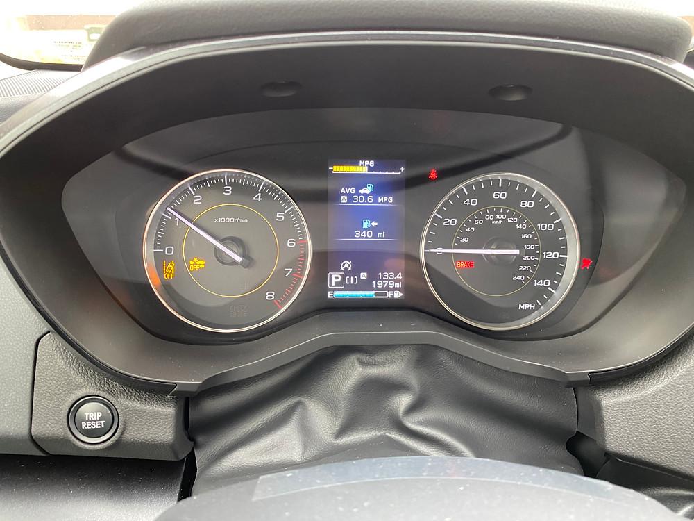 2021 Subaru Crosstrek Sport gauge cluster