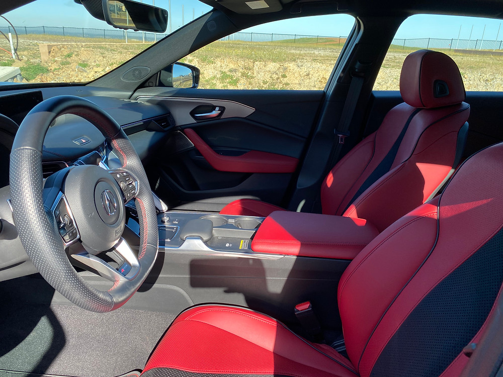 2021 Acura TLX SH-AWD A-SPEC front seats