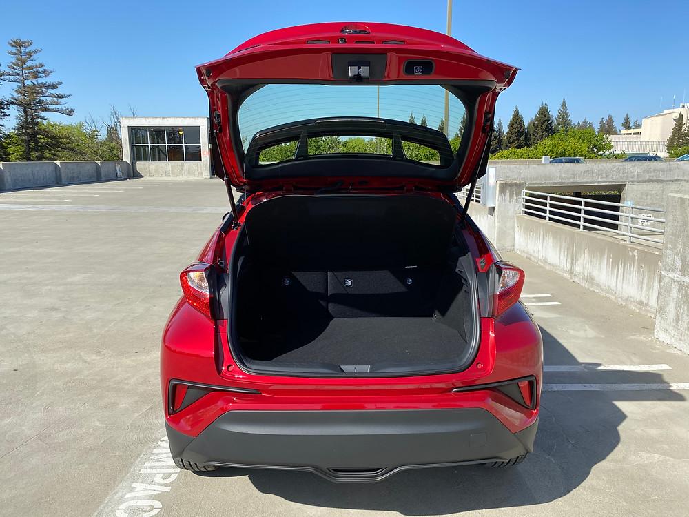 2021 Toyota C-HR Nightshade Edition rear hatch open