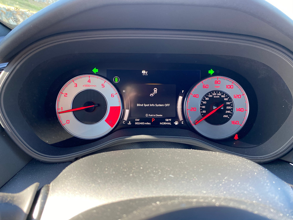2021 Acura TLX SH-AWD A-Spec gauge cluster