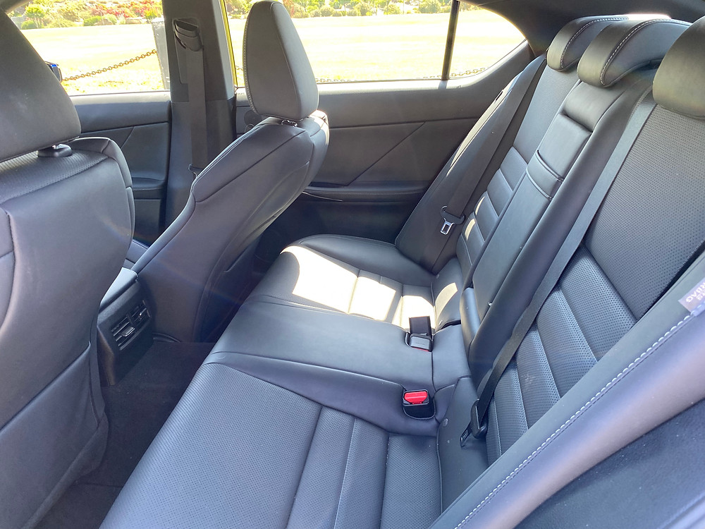2021 Lexus IS 350 F SPORT rear seat