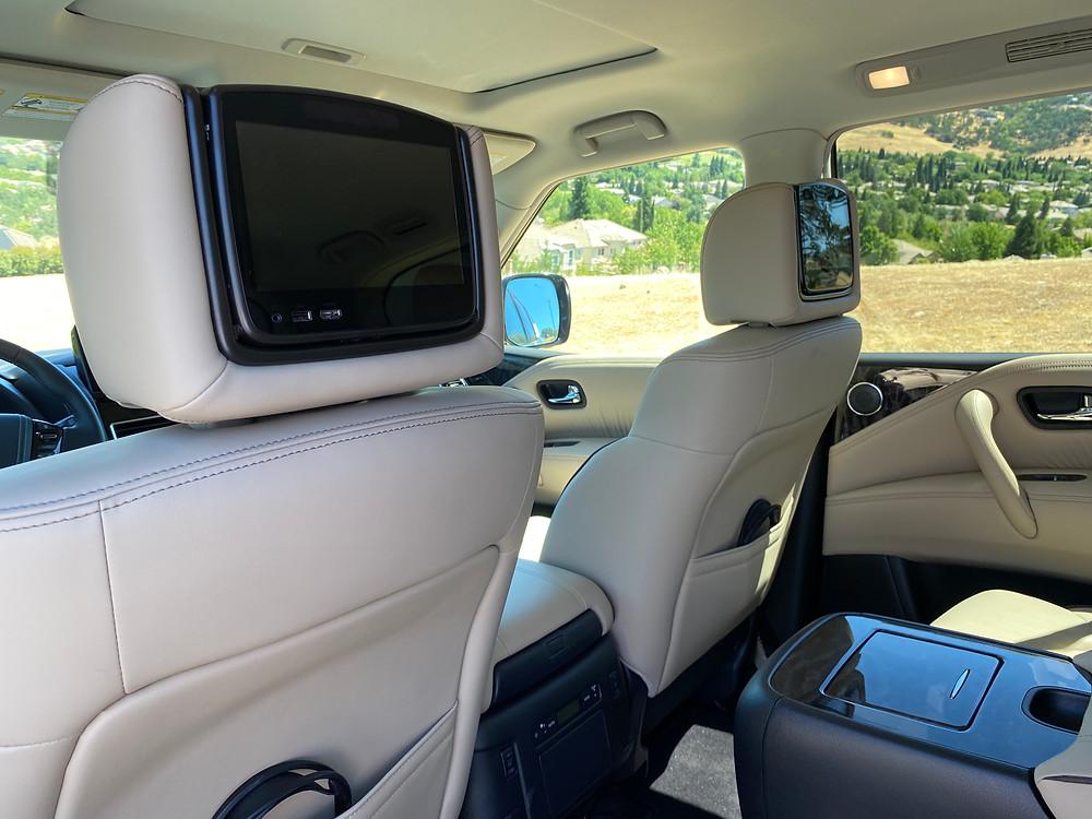 2021 Nissan Armada Platinum AWD rear seat entertainment