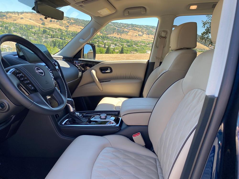 2021 Nissan Armada Platinum AWD front seats