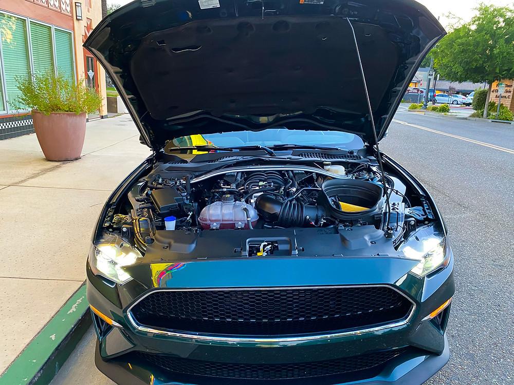 2020 Ford Mustang BULLITT hood up