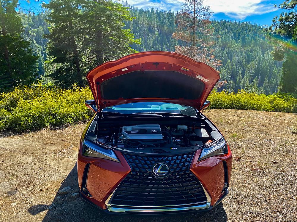 2020 Lexus UX 250h Hybrid hood open