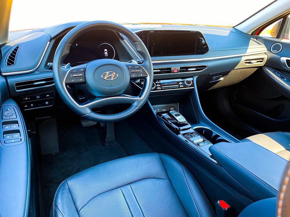 2020 Hyundai Sonata Hybrid Limited instrument panel