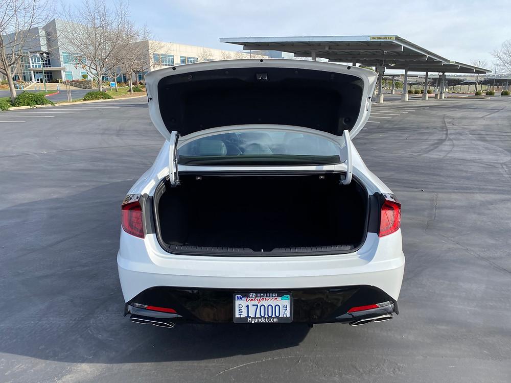 2021 Hyundai Sonata N-Line trunk open