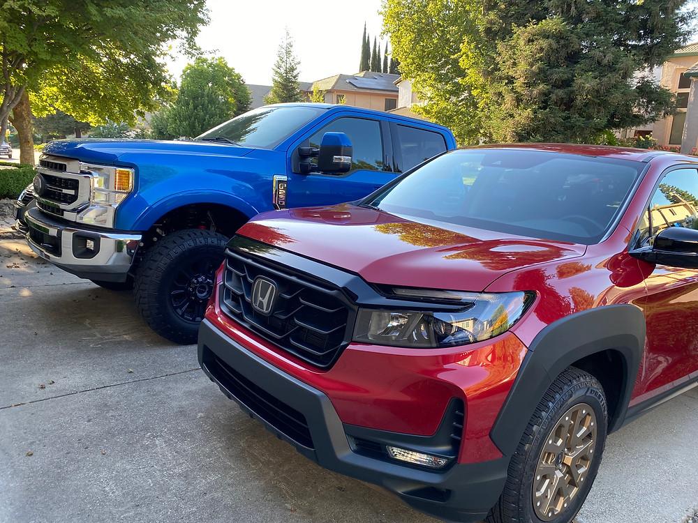 2021 Ford F-250 Tremor and 2021 Honda Ridgeline