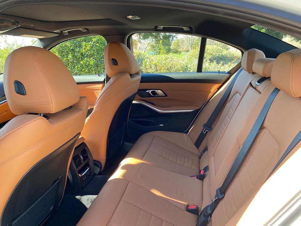 2021 BMW 330e rear seat
