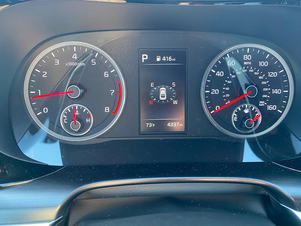 2021 Kia K5 gauge cluster