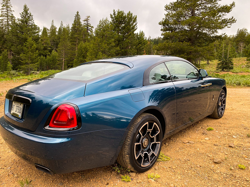 2020 Rolls-Royce Wraith Black Badge rear 3/4 view