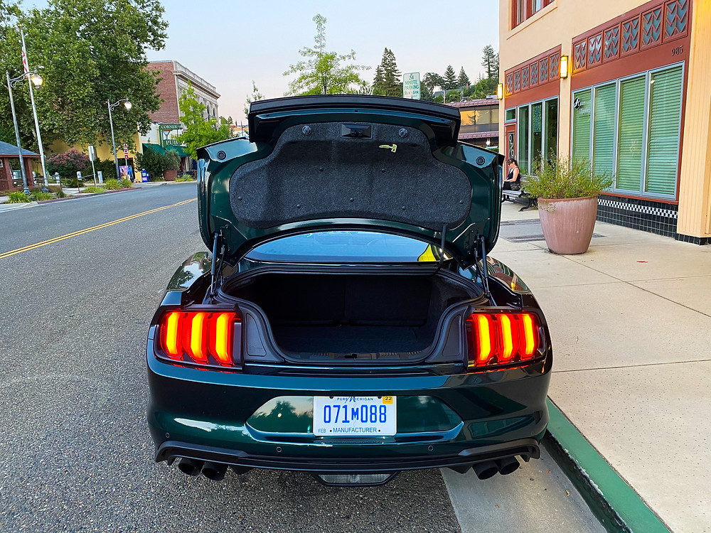 2020 Ford Mustang BULLITT trunk open