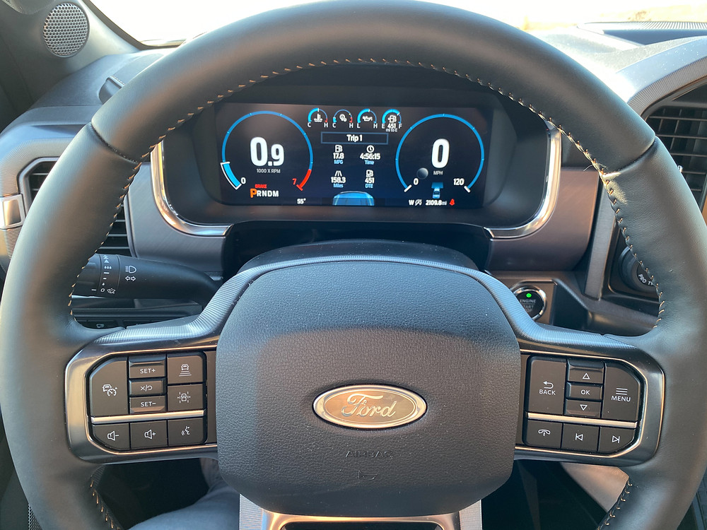 2021 Ford F-150 4X4 Supercrew steering wheel and gauge cluster