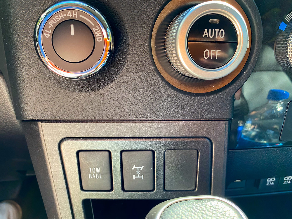 2020 Toyota Sequoia TRD PRO 4WD and towing controls