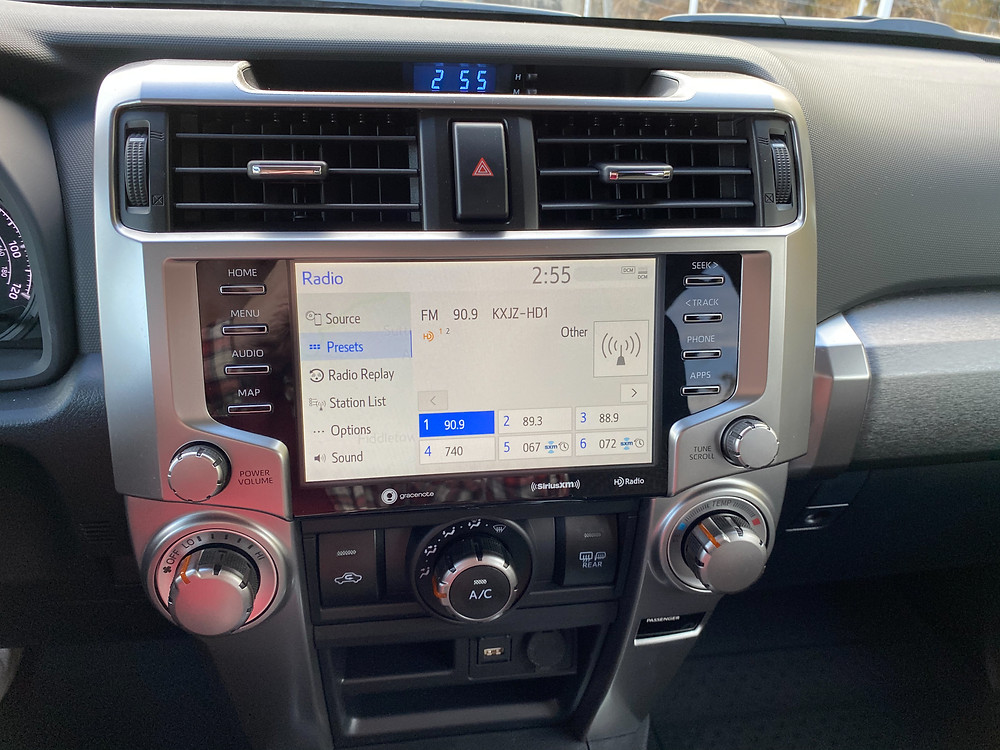2021 Toyota 4Runner 4x4 Trail infotainment and HVAC