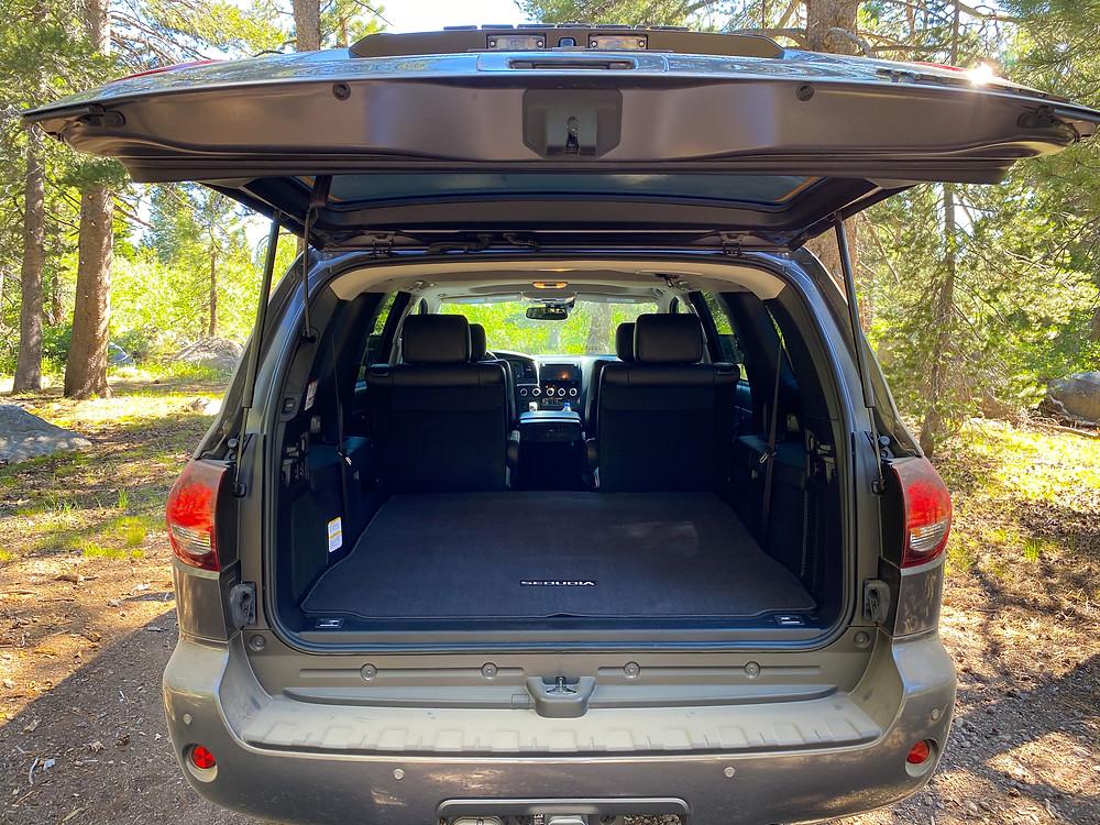 2020 Toyota Sequoia TRD PRO tailgate open