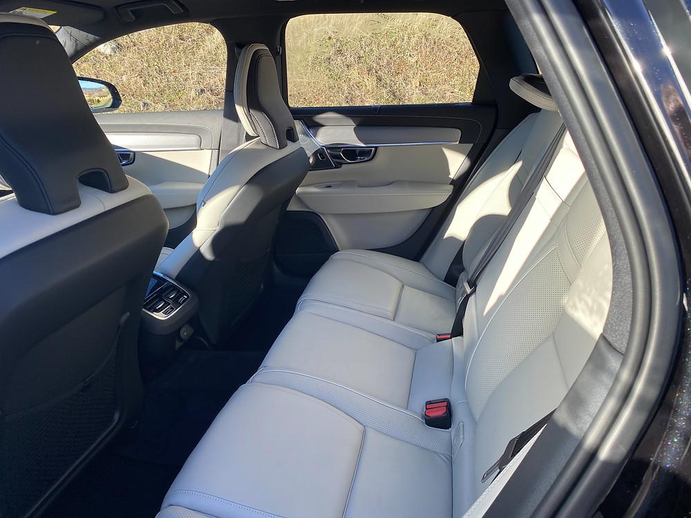 2021 Volvo V90 T6 AWD R-Design rear seat