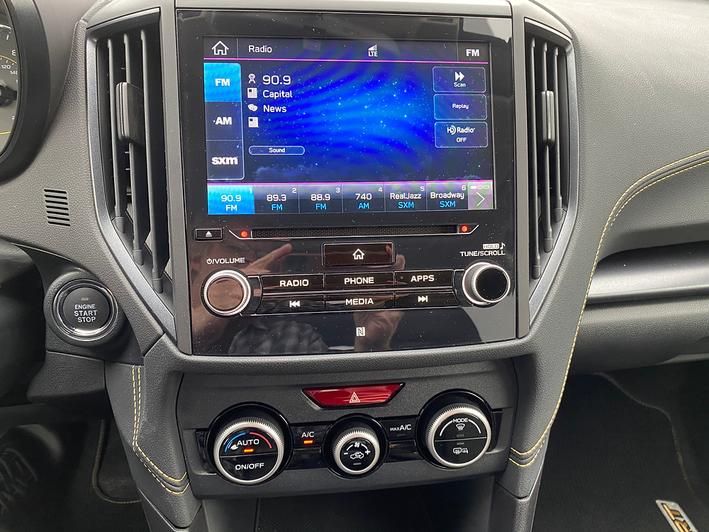 2021 Subaru Crosstrek Sport infotainment and HVAC