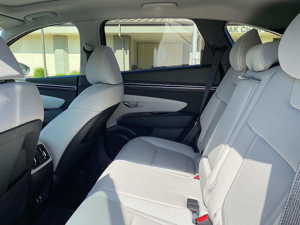 2021 Hyundai Tucson Limited Hybrid AWD rear seat