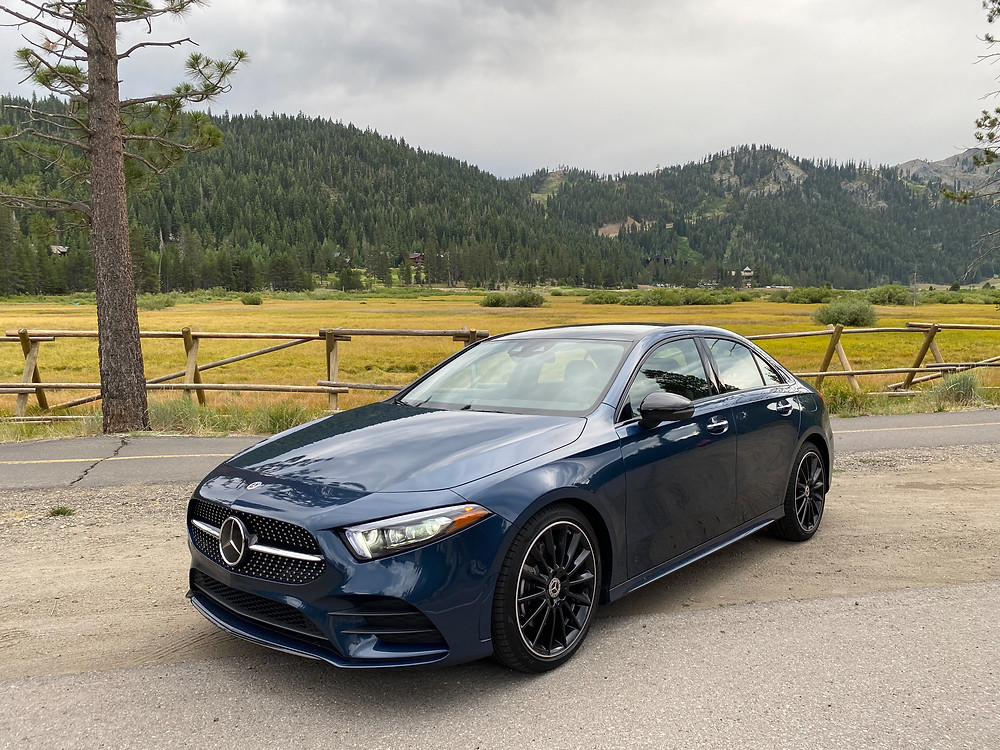2020 Mercedes-Benz A220 Sedan front 3/4 view