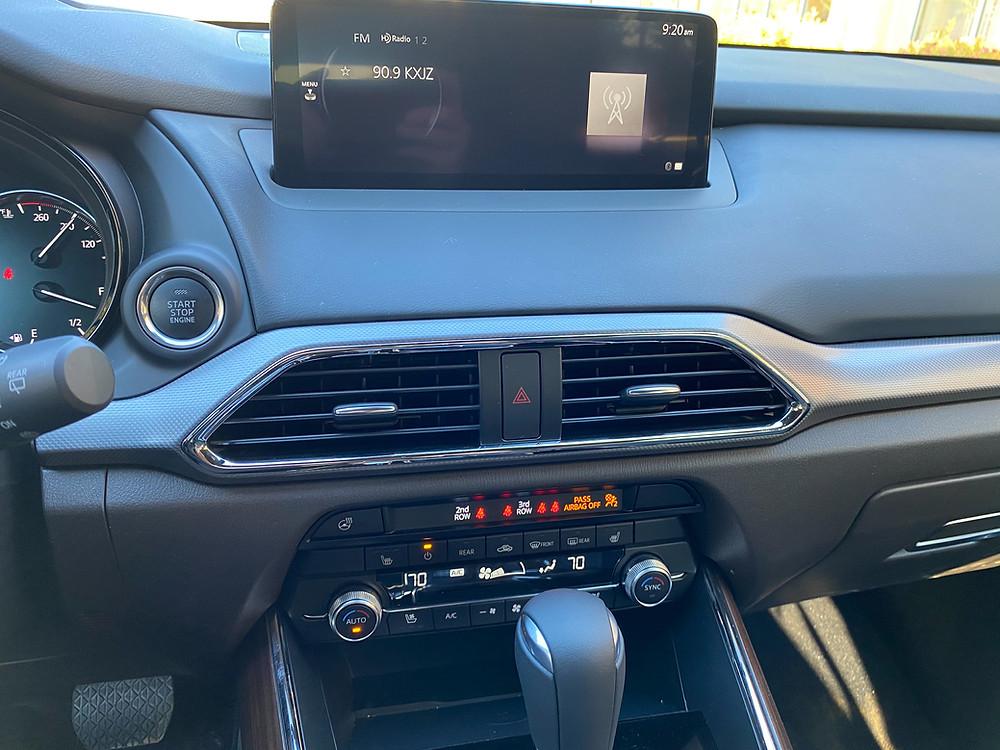 2021 Mazda CX-9 Signature AWD infotainment and HVAC