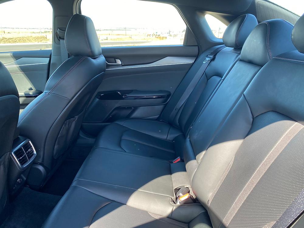 2021 Kia K5 GT rear seats
