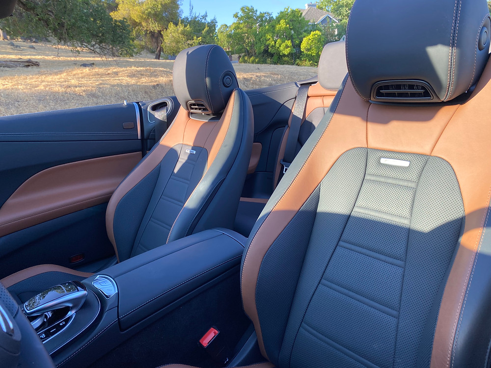 2021 Mercedes-AMG E53 Cabriolet front seats