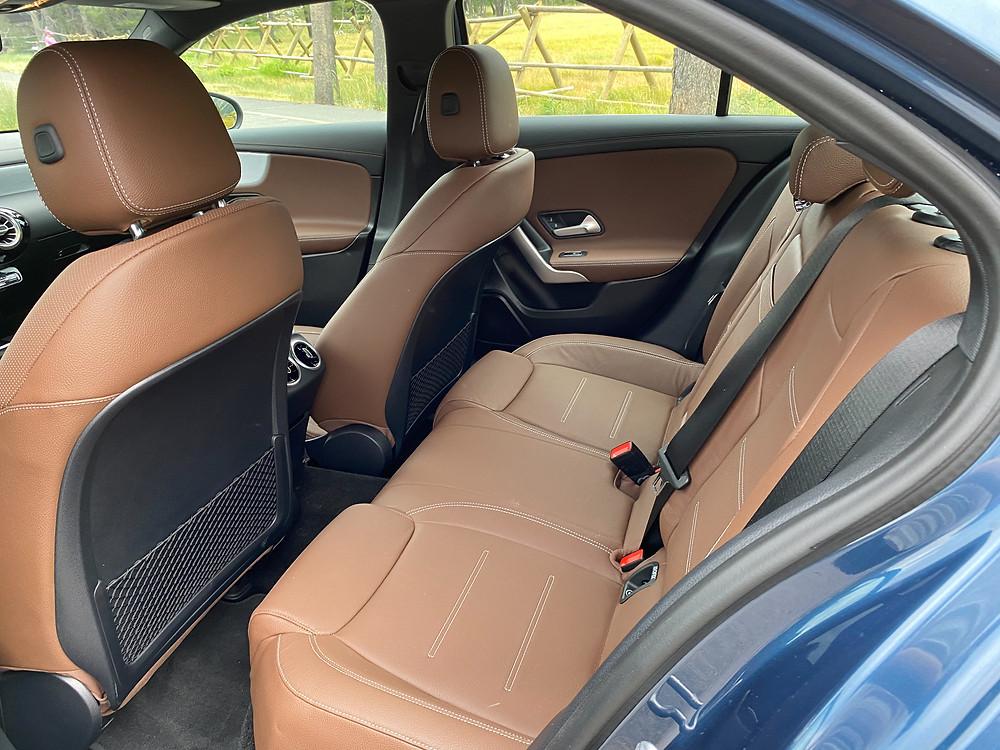 2020 Mercedes-Benz A220 Sedan rear seat