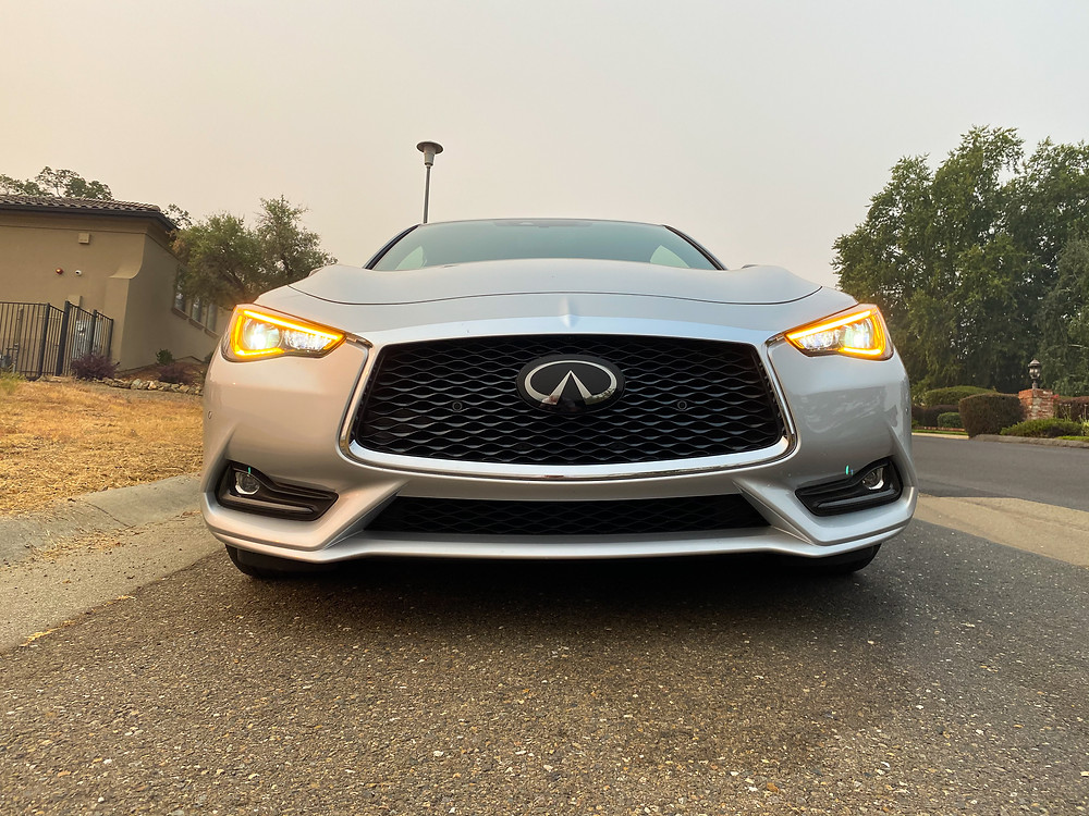2020 Infiniti Q60 Red Sport 400 front view