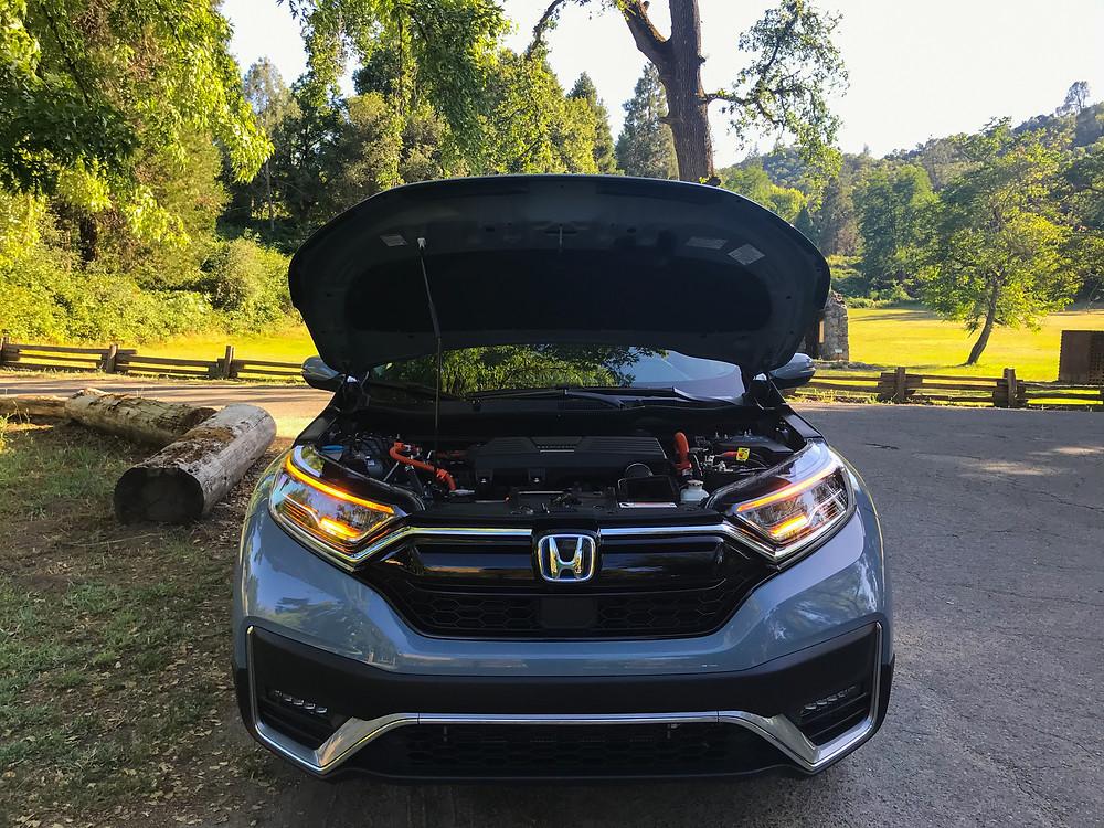 2020 Honda CR-V Hybrid Touring hood open
