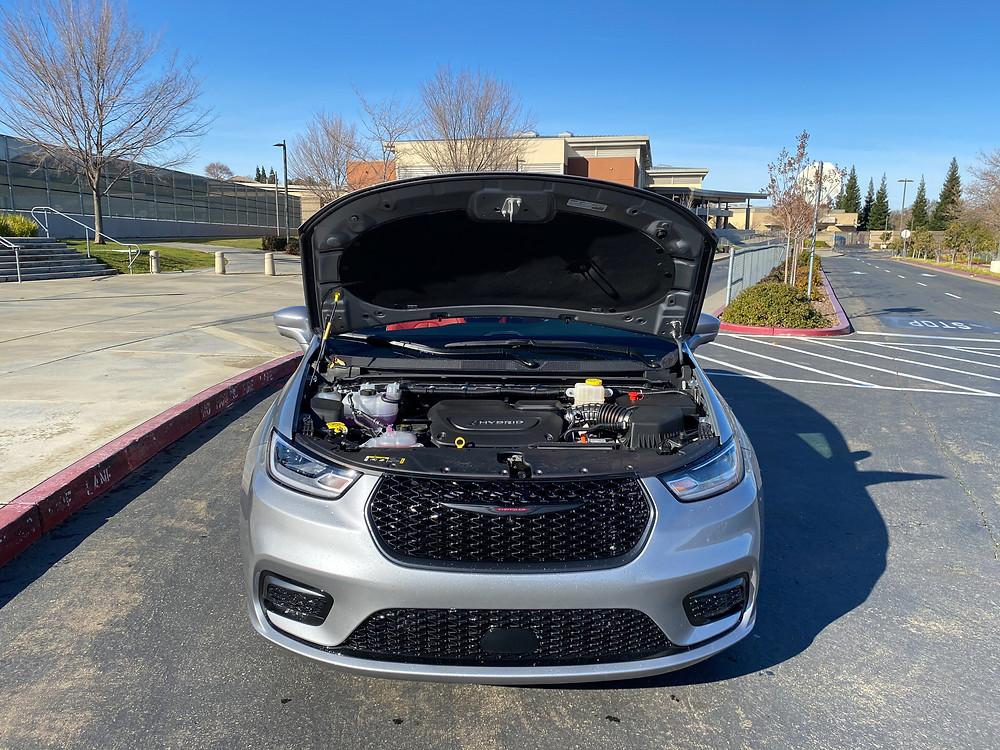 2021 Chrysler Pacifica Hybrid hood up