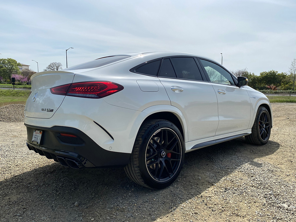 2021 Mercedes-AMG GLE 63 S Coupe rear 3/4 view