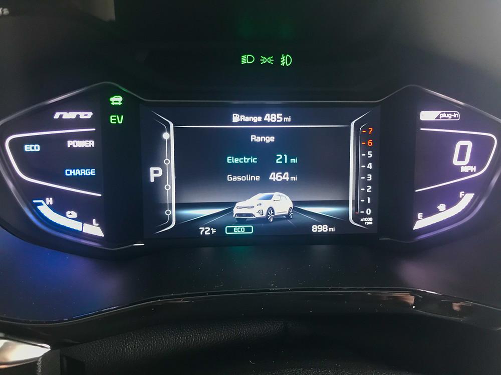 2020 Kia Niro PHEV EX Premium gauge cluster