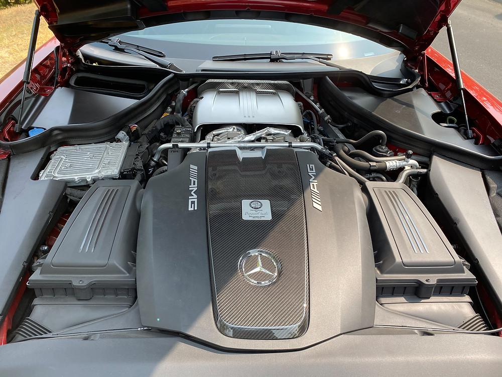 2020 Mercedes-AMG GT C engine close