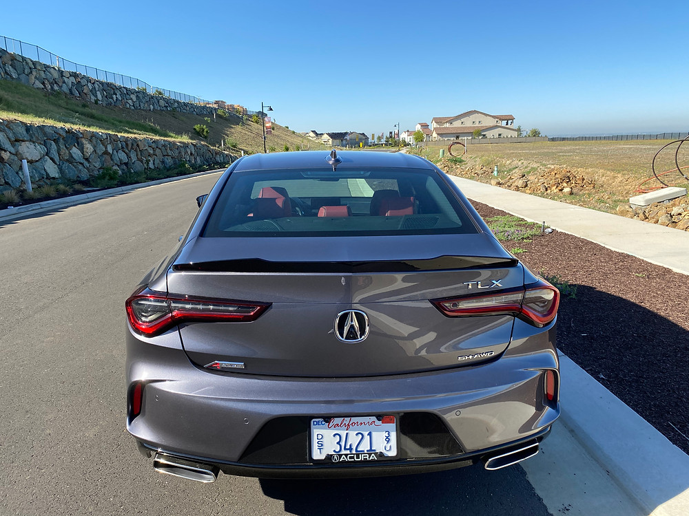 2021 Acura TLX SH-AWD A-Spec rear view