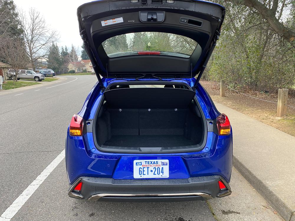 2021 Lexus UX 200 F SPORT rear liftgate open