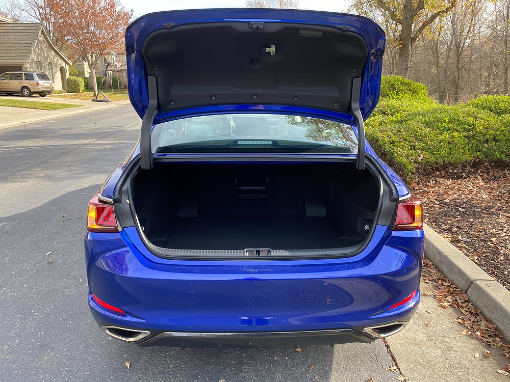 2021 Lexus ES350 F SPORT trunk open